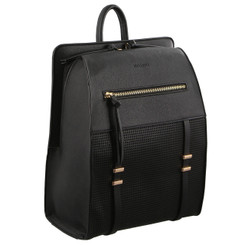 Milleni Backpack with perforated detail in Black (NC2786)