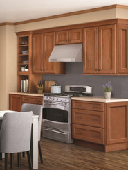Merillat Classic® Ralston w/ 5 piece drawer in Maple Hazelnut with Java Glaze