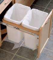 Base Double Wastebasket Top Mount Kit