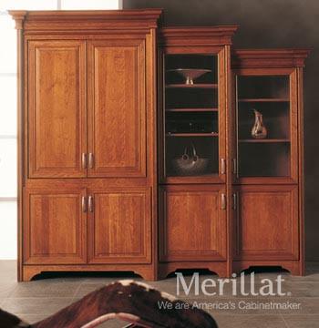 Merillat Masterpiece Tall Entertainment Cabinet With Pocket Doors
