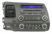 2006-08 Honda Civic AM FM XM MP3 Radio CD Player w Vents 2AD0 39101-SNA-A520-M1
