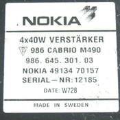 97 98 99 00 01 Porsche Baxter Amplifier 4913470157