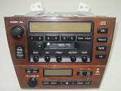 00 01 02 LEXUS ES300 CLIMATE CONTROL TAPE RADIO PLAYER WOOD GRAIN