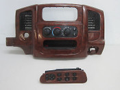 02 03 04 05  DODGE RAM 1500 RADIO BEZEL CLIMATE CONTROL WINDOW SWITCH WOODGRAIN