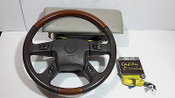 02 03 04 05 06 CADILLAC ESCALADE AIRBAG SET WITH MODULE WOODGRAIN STEERING WHEEL