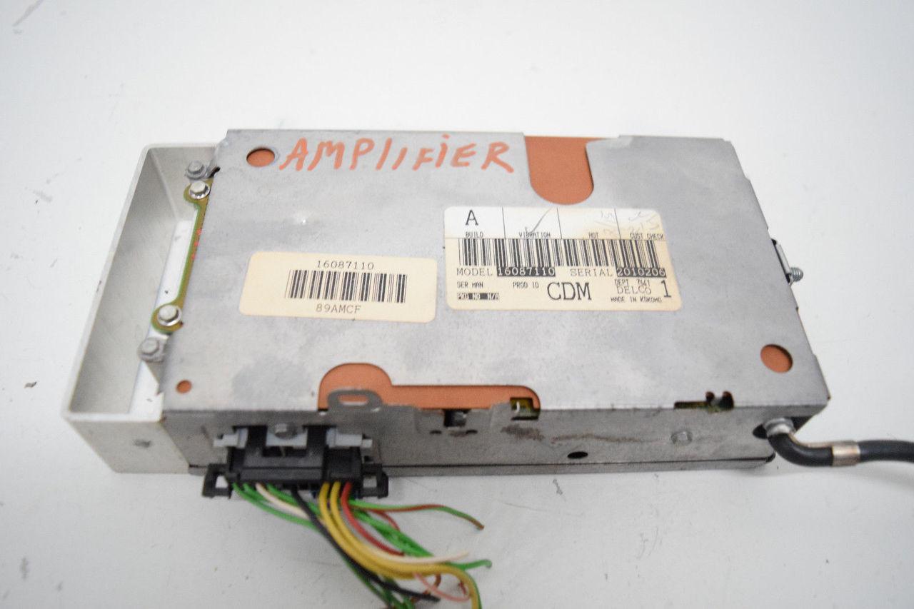90 91 92 CADILLAC ALLANTE RADIO TUNER AMP AMPLIFIER OEM 16087110