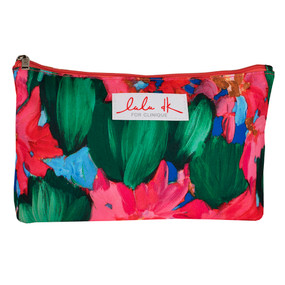 Clinique by Lulu dK Pink & Green Flowers Autumn 2015 Cosmetic Makeup Travel Bag