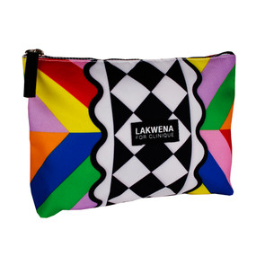 Clinique by Lakwena Multi-Colored Cosmetic Makeup Travel Bag