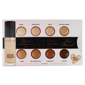 Too Faced Born This Way Concealer Sample Card - 8 Shades