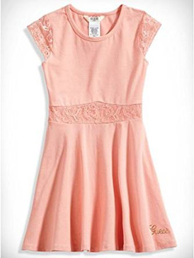 Guess Lace-Trim Skater Dress for Girls, GGU09058A