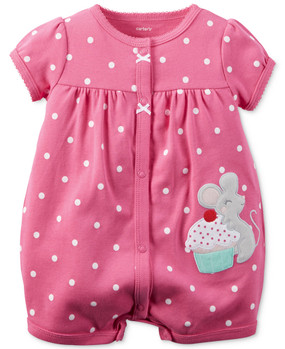 Carter's Baby Girls Cupcake Mouse Snap-Up Romper