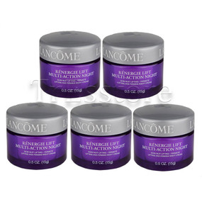 Lancome Renergie Lift Multi-Action Night Lifting & Firming Cream, 2.5oz/150g (Set of 5 Travel Size 0.5oz/15g each)