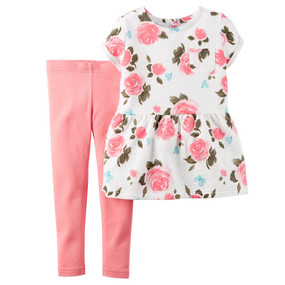 Carter's Baby Girls Floral Print Tunic & Leggins 2-Piece Set