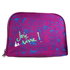 "Lancome ""Joie de Vive"" Purple Cosmetic Makeup Travel Bag"