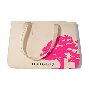 Origins Earth Day Recycled Tote Cosmetic Makeup Bag