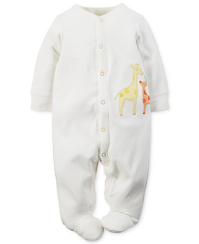 "Carter's Baby Boys' or Baby Girls' ""Double Giraffe"" Snap-Up Footed Coverall"
