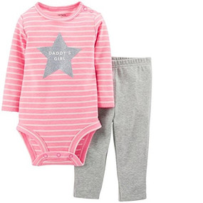 "Carter's Baby Girls ""Daddy's Girl"" Long Sleeve Bodysuit & Pants 2-Piece Set"