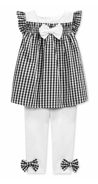 First Impressions Baby Girls 2-Piece Gingham Tunic & Leggings Set