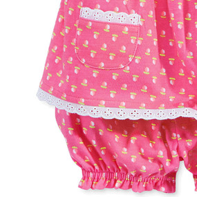 First Impressions Baby Girls Rose-Hued Print tunic & Bloomer Set, Pink Dazzle