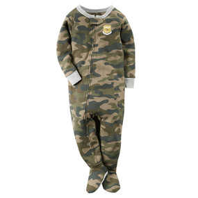 Carter's Baby Boys Long Sleeve Snug Fit Cotton Camo-Print Footed Pajamas