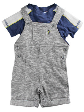 First Impressions Baby Boys 2-Piece T-Shirt & Shortall Set, Squirrel