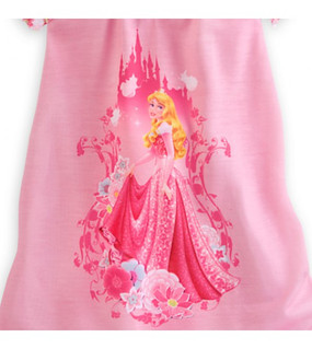 Disney Store Aurora - Sleeping Beauty, Nightshirt Nightgown for Girls