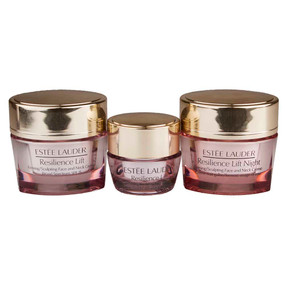 Estee Lauder Resilience Lift Firming/Sculpting Face & Neck Creme, Day, Night & Eye Travel Set