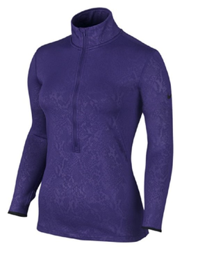 Nike Women's Pro Warm Embossed Heights Vixen Half-Zip