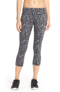 Nike Women's Dri-fit 'Lotus Epic Run' Printed Crop Leggings