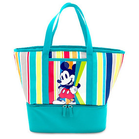 Disney Store Mickey Mouse Insulated Zip Cooler Tote - Summer Fun