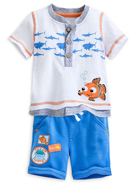 Disney Store Baby Boys Nemo - Finding Nemo - Short Sleeve T-Shirt & Short Set