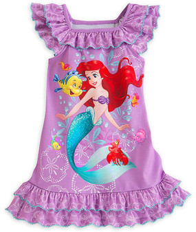 Disney Store Ariel & Flounder - Little Mermaid - Nightshirt For Girls