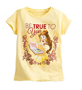 Disney Store Belle ''Be True To You'' Short Sleeve T-Shirt Tee for Girls