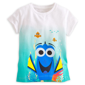 Disney Store Finding Dory Dip Dyed Tee Short Sleeve T-Shirt for Girls