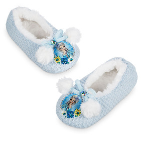 Disney Store Girls Elsa - Frozen -  Slippers, Blue