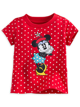 Disney Store Baby Girls Minnie Mouse Classic Short Sleeve T-Shirt, Red