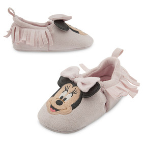 Disney Store Baby Girls Minnie Mouse Layette Crib Shoes, Pink