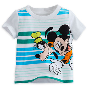 Disney Store Mickey Mouse and Goofy Short Sleeve Tee T-Shirt for Baby Boys