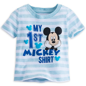Disney Store Mickey Mouse ''My 1st Mickey Shirt'' Tee T-Shirt for Baby Boys