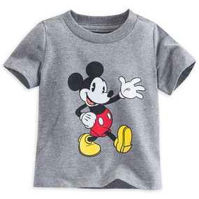 Disney Store Mickey Mouse Classic Short Sleeve Tee T-Shirt for Baby Boys