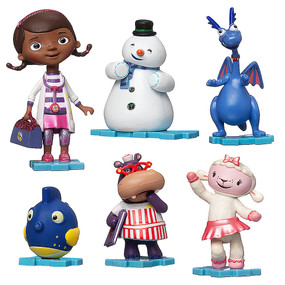 Disney Store Doc McStuffins Figure Figurine 6 Pcs Play Set