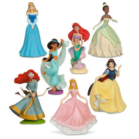 Disney Store Disney Princess Figure Figurine 6 Pcs Play Set #1