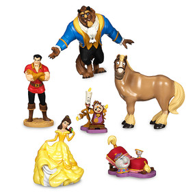 Disney Store Beauty and the Beast Figure Figurine 6 Pcs Play Set
