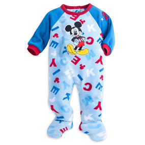 Disney Store Baby Boys Mickey Mouse Long Sleeve Blanket Sleeper, Blue