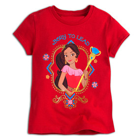 "Disney Store Elena of Avalor ""Born to Lead"" Short Sleeve Tee T-Shirt for Girls"