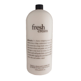 Philosophy Fresh Cream Shampoo, Shower Gel & Bubble Bath, 1920ml/64oz