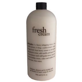 Philosophy Fresh Cream Shampoo, Shower Gel & Bubble Bath, 946ml/32oz