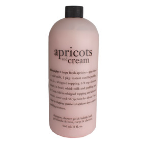 Philosophy Apricots and Cream Shampoo, Shower Gel & Bubble Bath, 946ml/32oz
