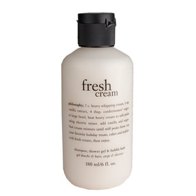 Philosophy Fresh Cream Shampoo, Shower Gel & Bubble Bath, 180ml/6oz