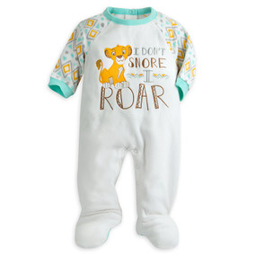 Disney Store Simba Lion Guard ''I Don't Snore, I Roar'' Blanket Sleeper for Baby